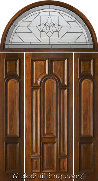 Half Round Transom 8 39 0 Exterior Mahogany Doors