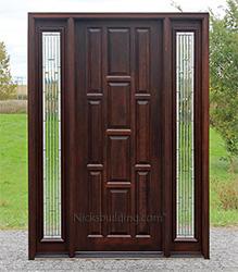 Exterior Panel Doors Solid Wood Panel Options for Your Door