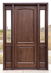 ... Exterior 2 Panel Doors With Beveled Glass Sidelights