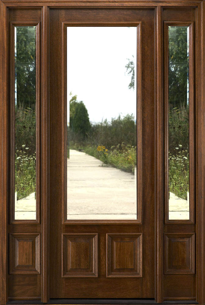 Exterior doors with sidelites 8 39 0 solid mahogany doors for 8ft french doors