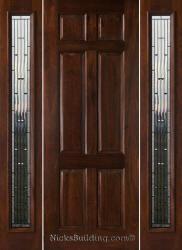 Nice N 6 Panel Mahogany Door N 001 Olympus Glass Sidelights