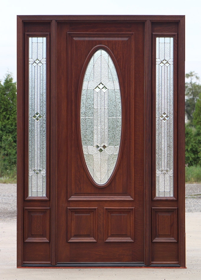 Exterior doors with sidelites 8 39 0 solid mahogany doors for Mahogany exterior door