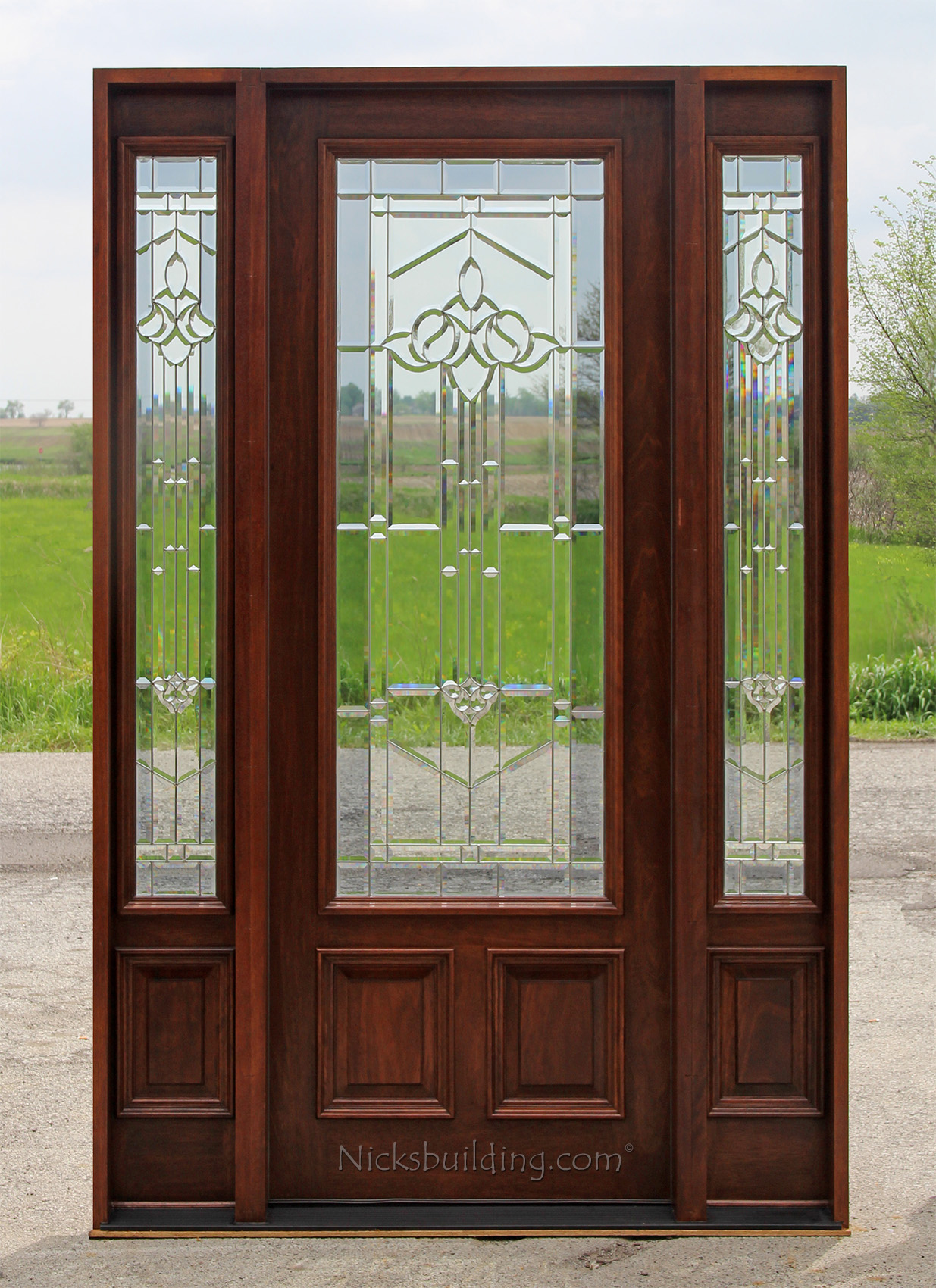 Exterior doors with sidelites 8 39 0 solid mahogany doors for 8 foot exterior doors