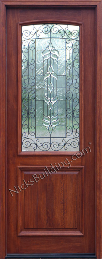 foot wood front doors with glass