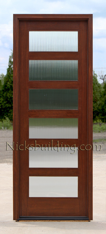 Mahogany Exterior Single Doors In 8ft Height