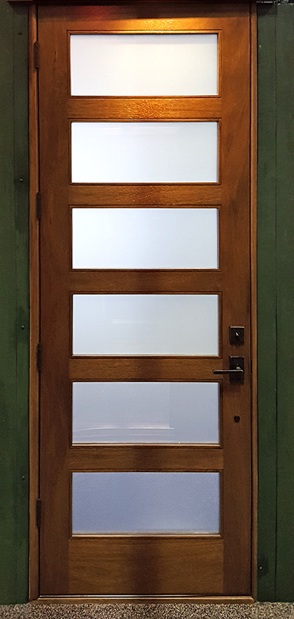 Mahogany Exterior Single Doors In 8ft Height