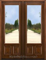 Patio doors wooden french doors for 8 foot front wood doors