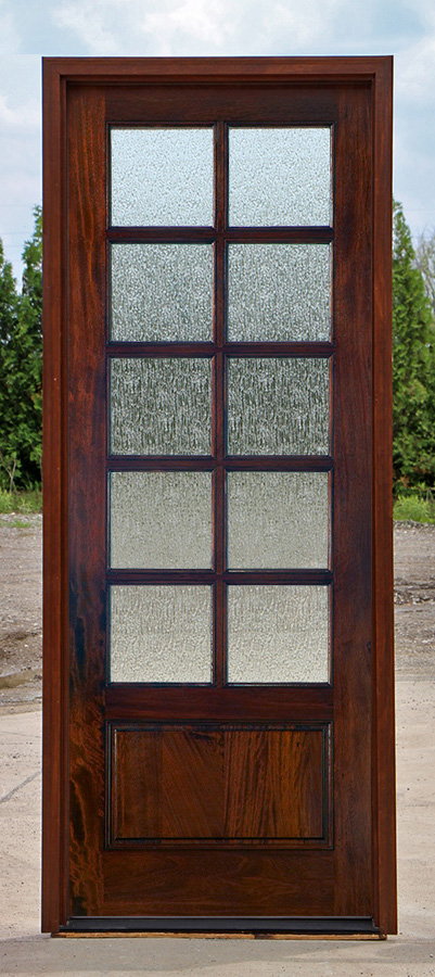 Flemish Textured Glass, Rain Glass Doors 10 Lite