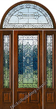 Solid Mahogany Doors Sidelites Half-Round Transoms