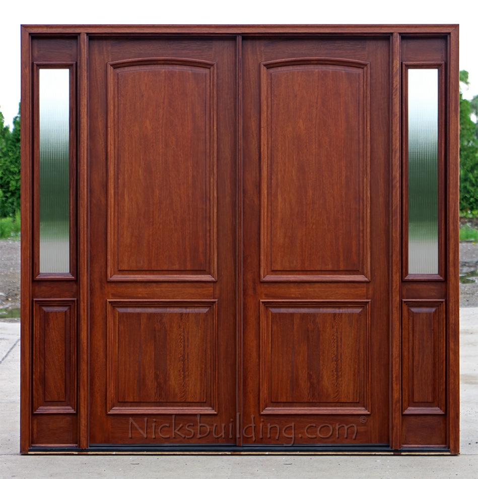 Double doors with glass clear beveled glass mahogany 2 panel double doors with reeded glass eventelaan Image collections