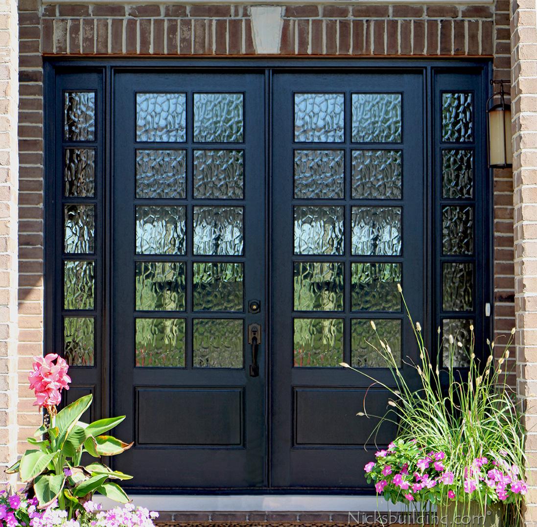 Mahogany double doors with sidelights in 8ft height for 8 lite exterior door