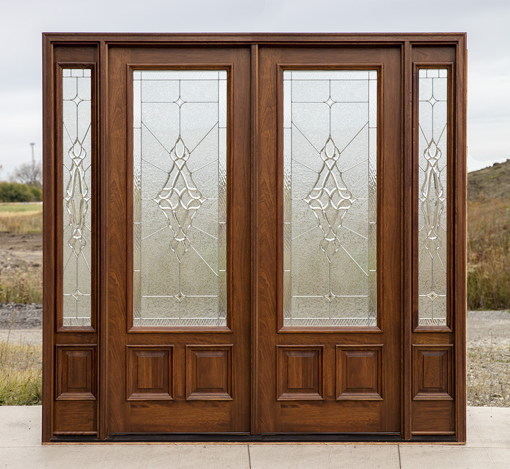 Mahogany double doors with sidelights in 8ft height - Double front entry doors with sidelights ...
