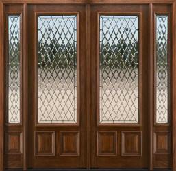 8ft Mahogany Glass Doors Solid Mahogany Exterior Entry Doors