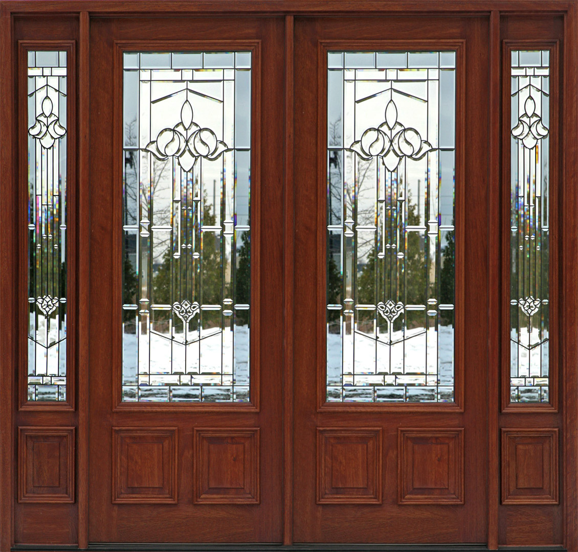 Double Front Doors With Sidelights