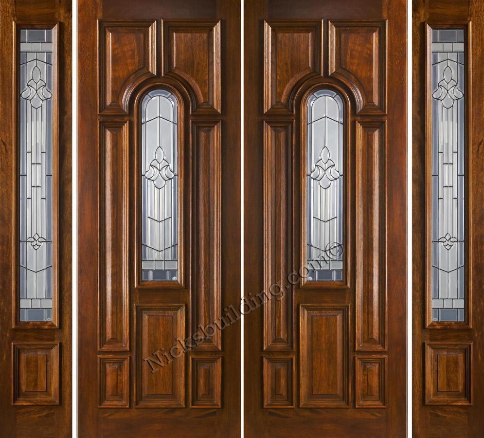 Mahogany double doors with sidelights in 8ft height for 100 doors 2 door 8