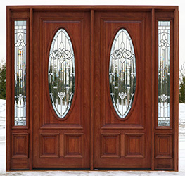 ... N-600 double doors with Majestic Glass & Mahogany Double Doors with Sidelights in 8ft Height