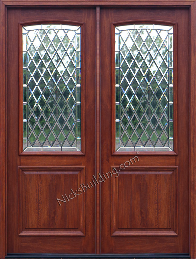 Exterior double doors solid mahogany double doors 8 0 for Double glazed exterior doors