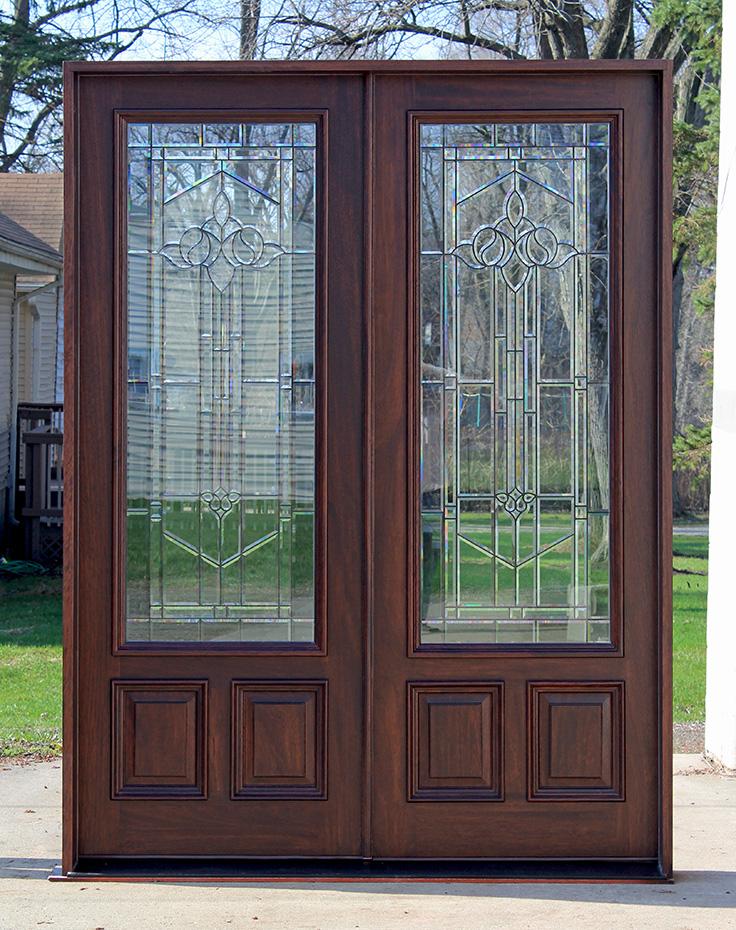 Exterior Double Doors Solid Mahogany Double Doors 8 0