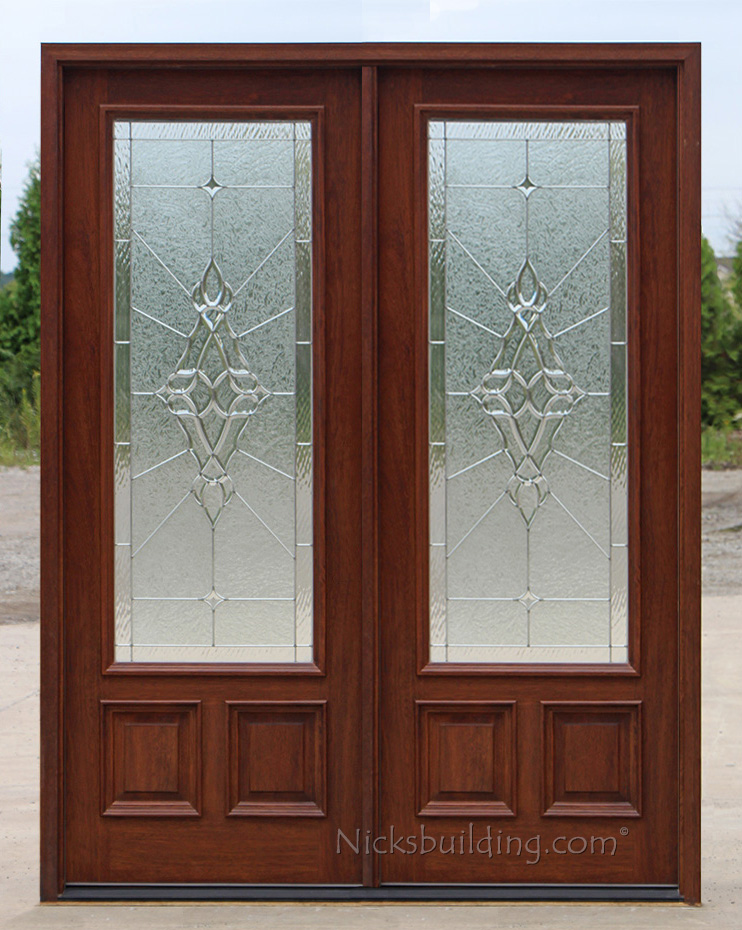Exterior double doors solid mahogany double doors 8 0 for 8 lite exterior door