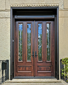 Mahogany Double Doors in Chicago Model N-101 Iron Classic