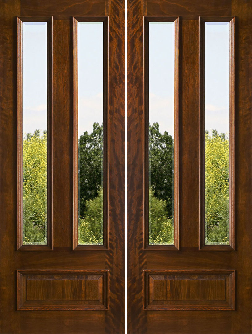 Exterior double doors solid mahogany double doors 8 0 for Exterior front entry double doors
