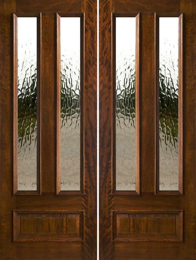 Exterior double doors solid mahogany double doors 8 0 for Exterior double doors with glass