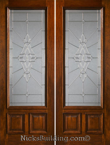 Mahogany French Doors Exterior 378 x 500