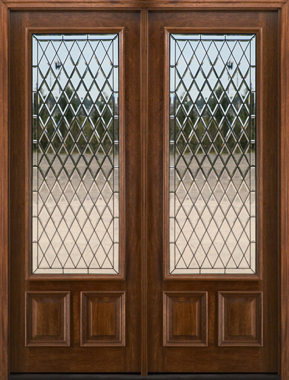1 lite chateau patio doors french doors for Double entry patio doors