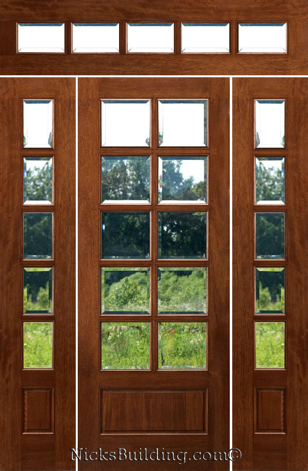 Rectangular Transom Doors - Solid Mahogany Doors with Rectangular Transoms : transom doors exterior - pezcame.com