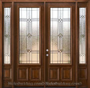 Solid Mahogany Double Doors & Sidelights
