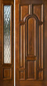 Solid Mahogany Doors with 1 Sidelight