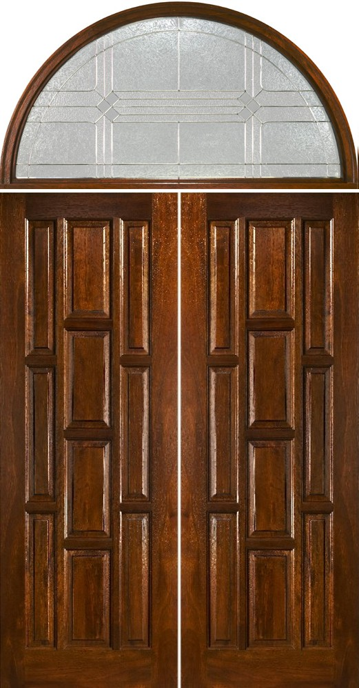 Exterior double doors with arched transom half round transoms for Half round buildings