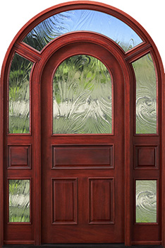 arch top door with surround baroque glass