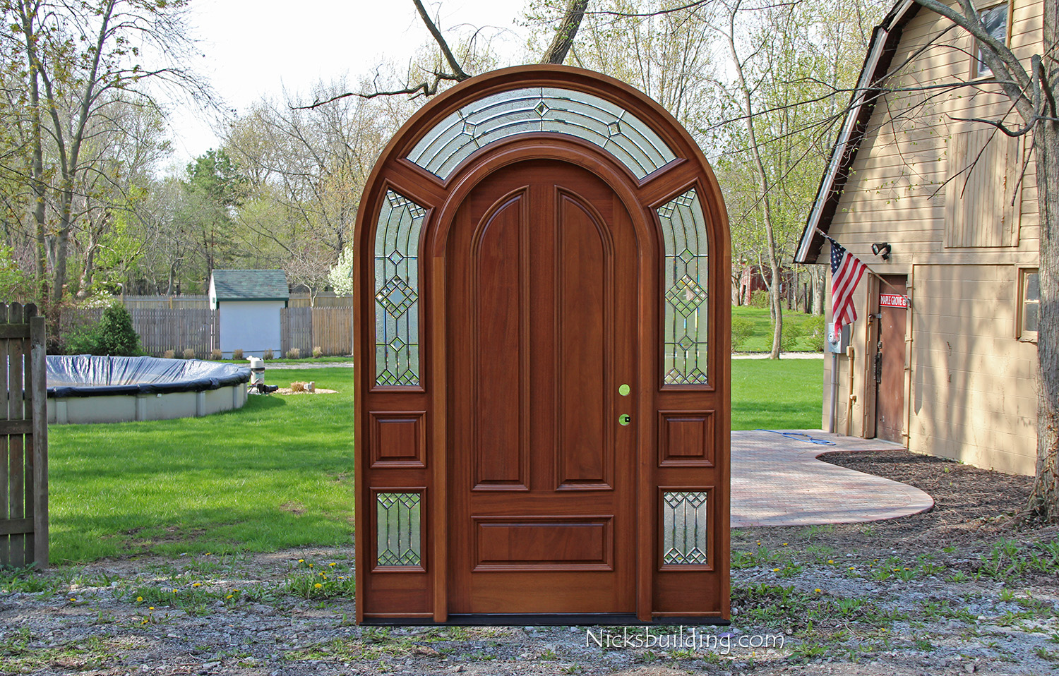 958 #693725 Arched Top Mahogany Entry Door And Custom Oak Entry Doors Pictures To  pic Arch Top Exterior Doors 38711500