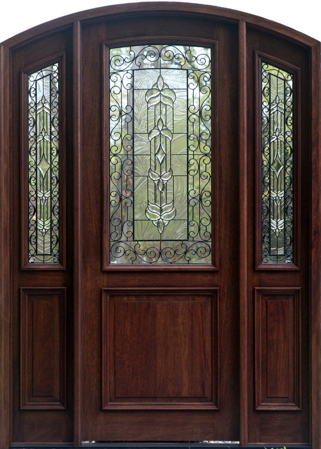 Wood doors exterior doors mahogany doors entry doors for Front door with top window