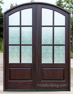 Whitehawk Double Door with Rain Glass
