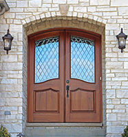 Arched Top Exterior Double Doors
