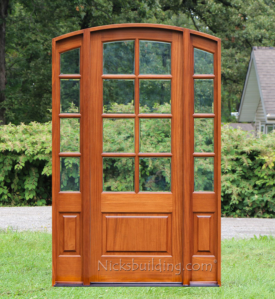 Sunrise French Doors Collection Antique Cherry Finish