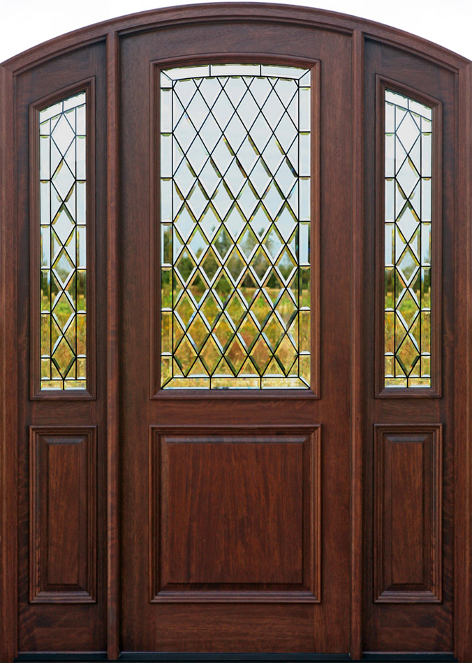 Wood doors exterior doors mahogany doors entry doors for Front entry doors with glass