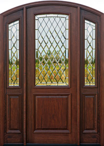 Arched Exterior Doors - Bellagio with Gothic Chateau Glass