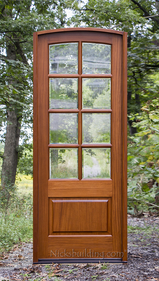 Arched Top 8 Lite French Door