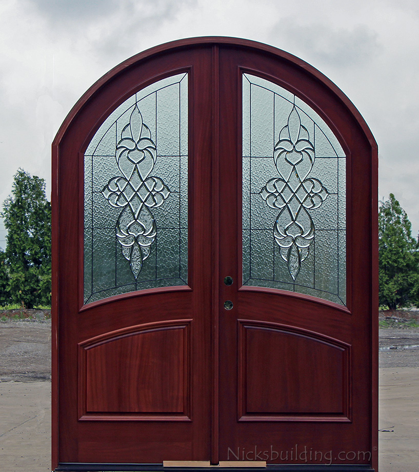 Arch top exterior double doors for Exterior double doors