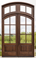 Whitehawk Arched Double Doors with Transom