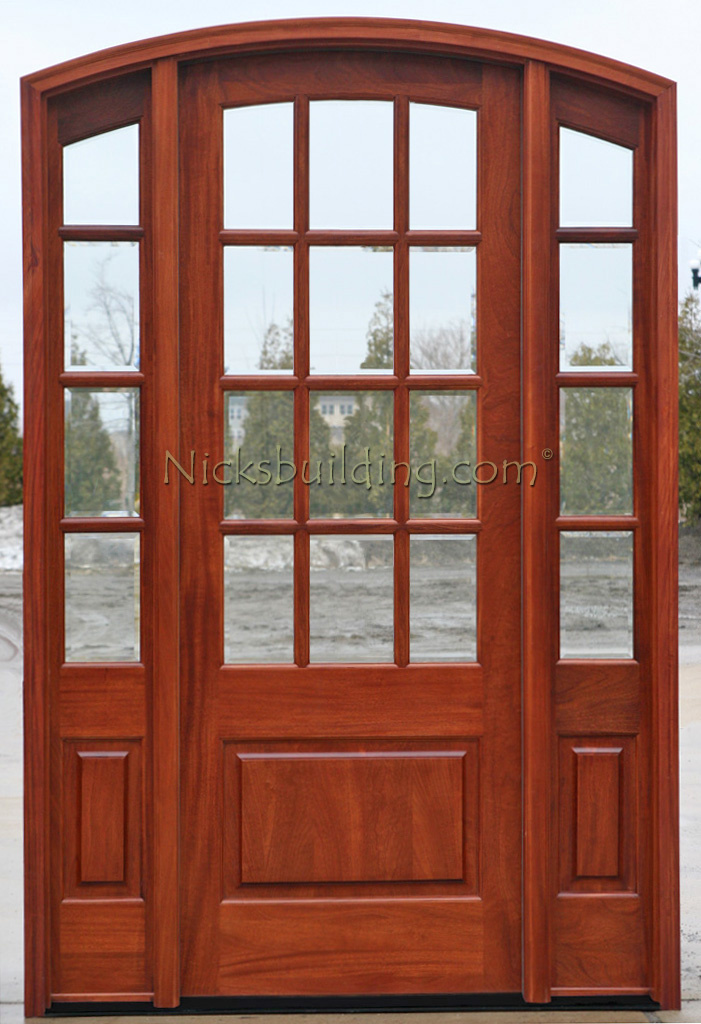 New Sunrise Arched French Door with Sidelights