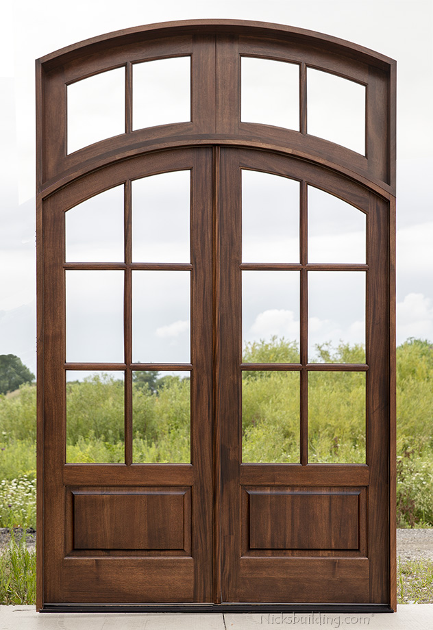 Whitehawk in 8u00270  with Arched Transom & Whitehawk Exterior French Doors Collection