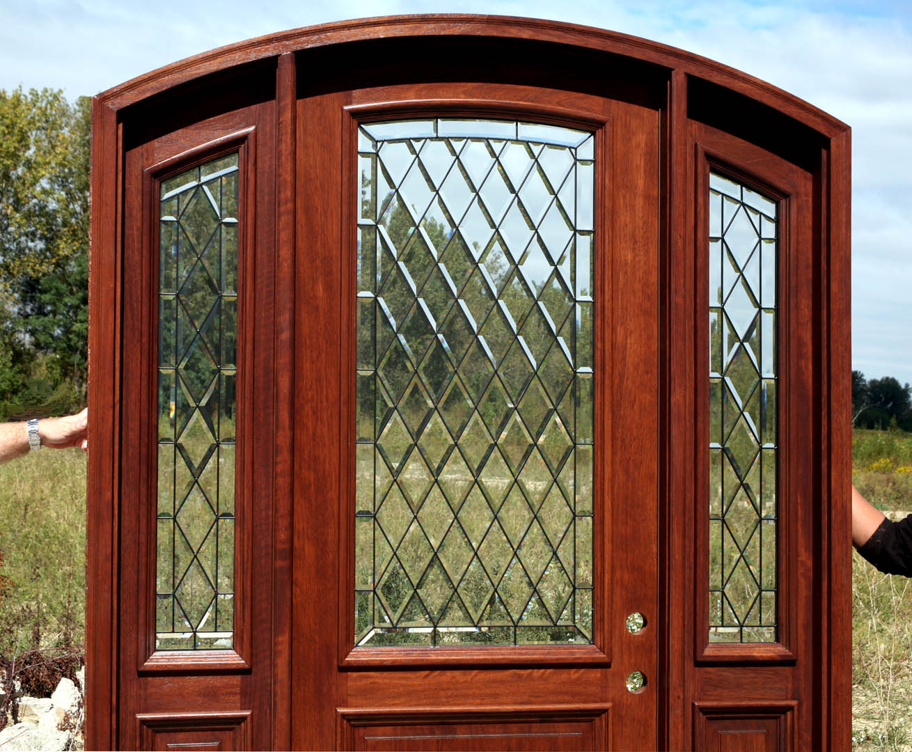 1080 #792F1D Arch Doors Arched Top Doors Exterior Arched Doors image Arched Wood Entry Doors 40831310