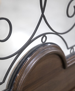 Wrought Iron Glass Closeup
