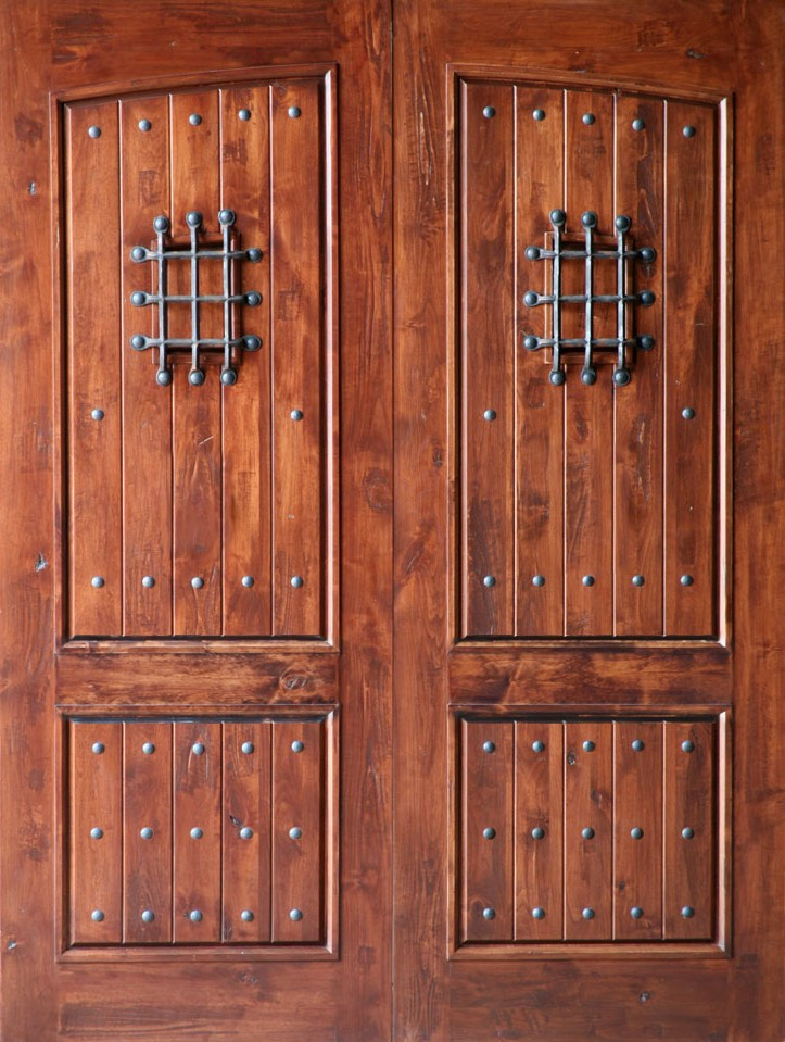 Knotty alder exterior double doors for Exterior double doors
