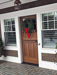 Custom Exterior Dutch Door with Shelf