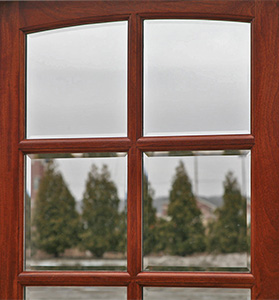 Clear Beveled Glass for Arched Top Exterior Door